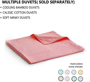 Weighted Blanket (15 lbs, 48''x72'', Twin Size) - Apricot