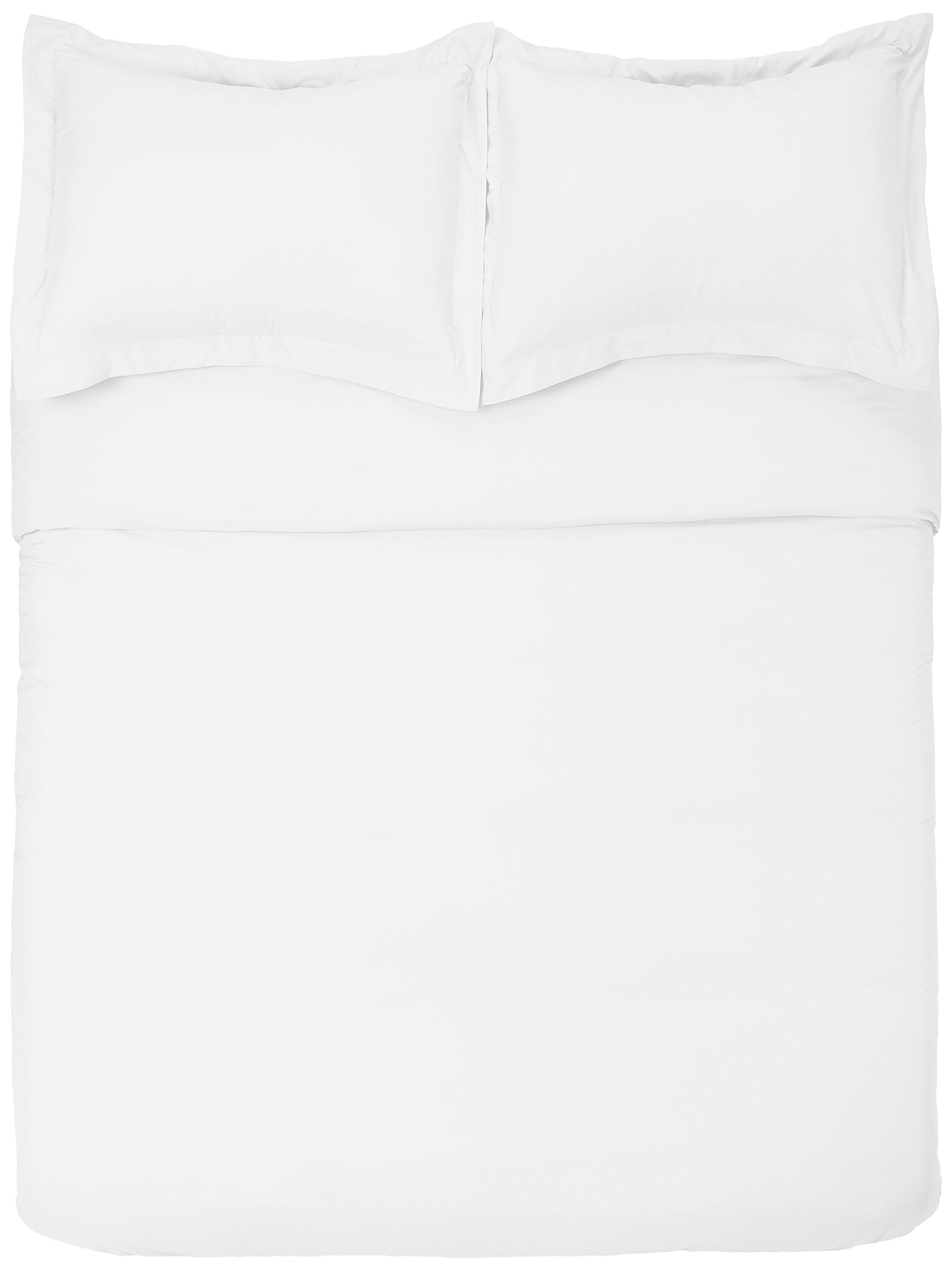 Microfiber Duvet Cover Set - Lightweight and Soft - Twin/Twin XL, Bright White