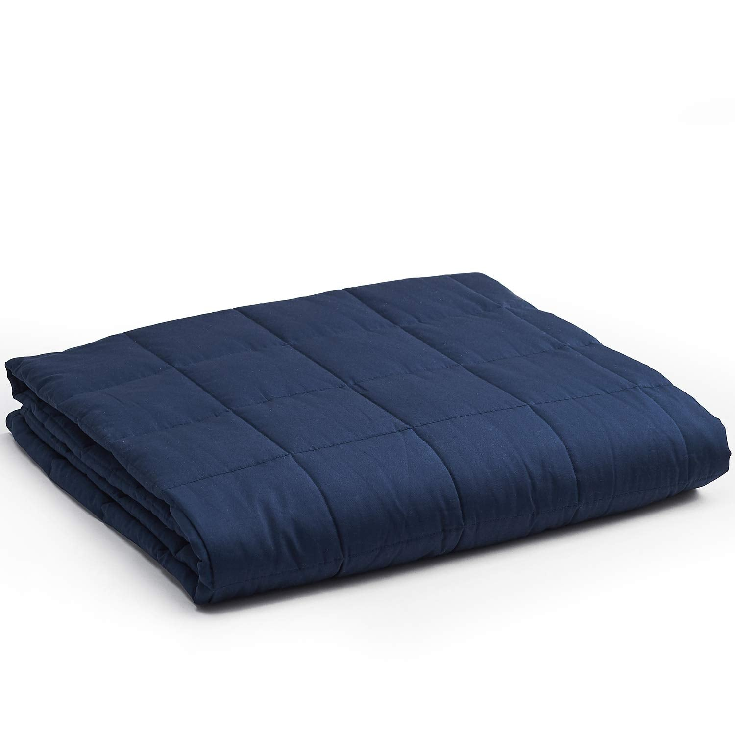 Weighted Blanket (15 lbs, 48''x72'', Twin Size) - Navy