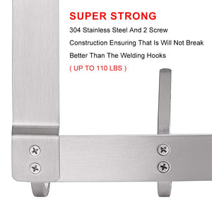 Stainless Steel Heavy Duty Door Over the Door Hanger