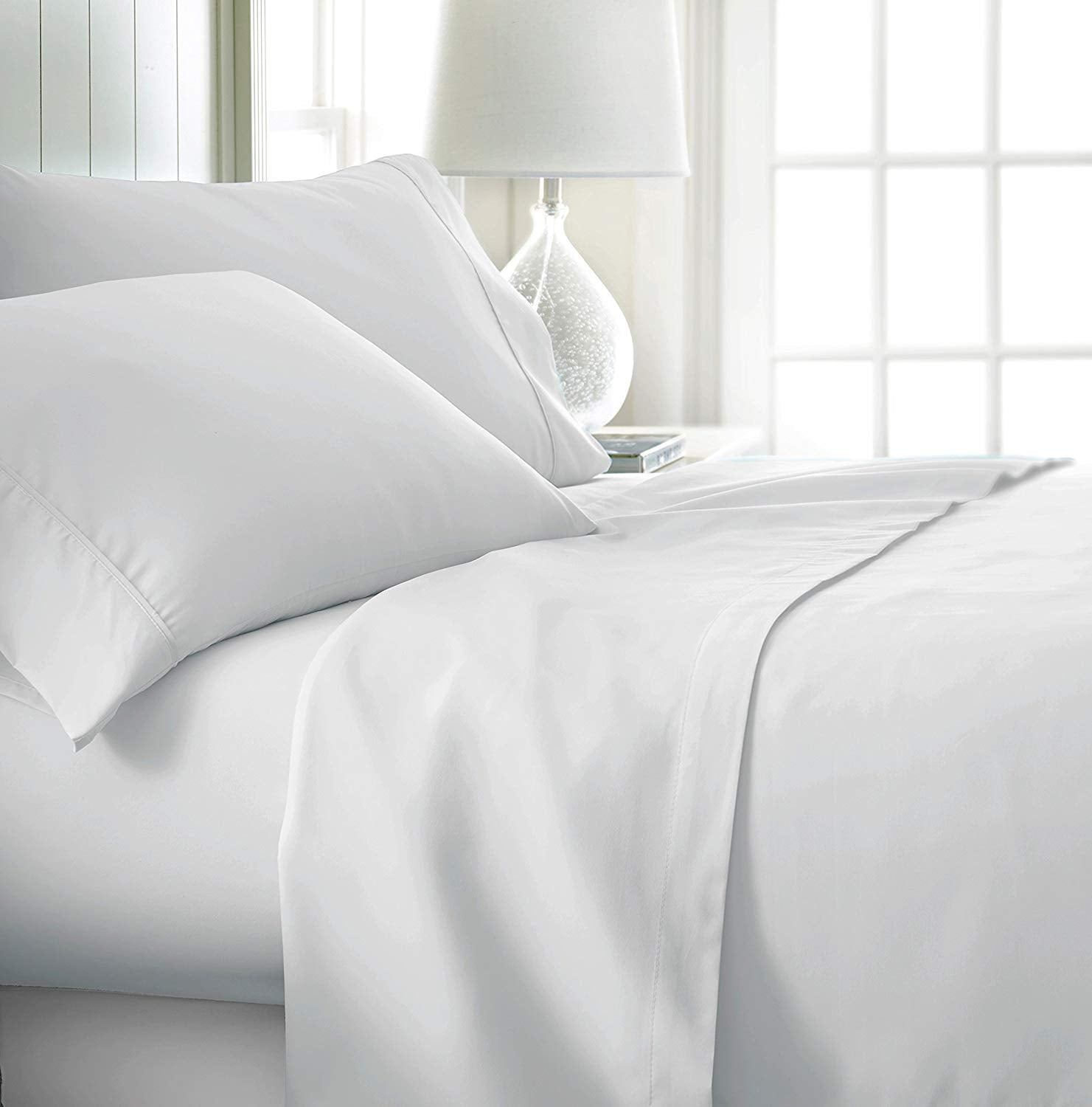 Specially Designed for Dorm Beds, Twin Extra Long Sheets Solid White