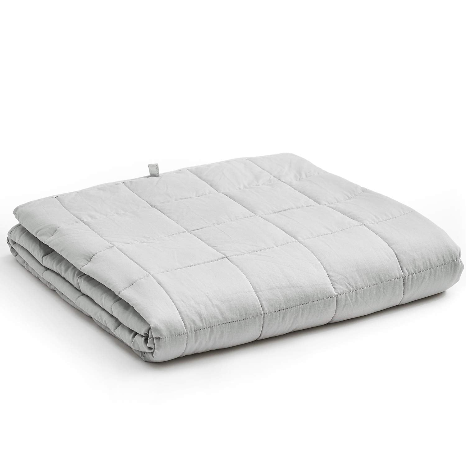 Weighted Blanket (15 lbs, 48''x72'', Twin Size) - Light Grey