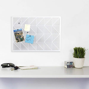 Trigon Wall Mounted Magnetic Bulletin/Message Board
