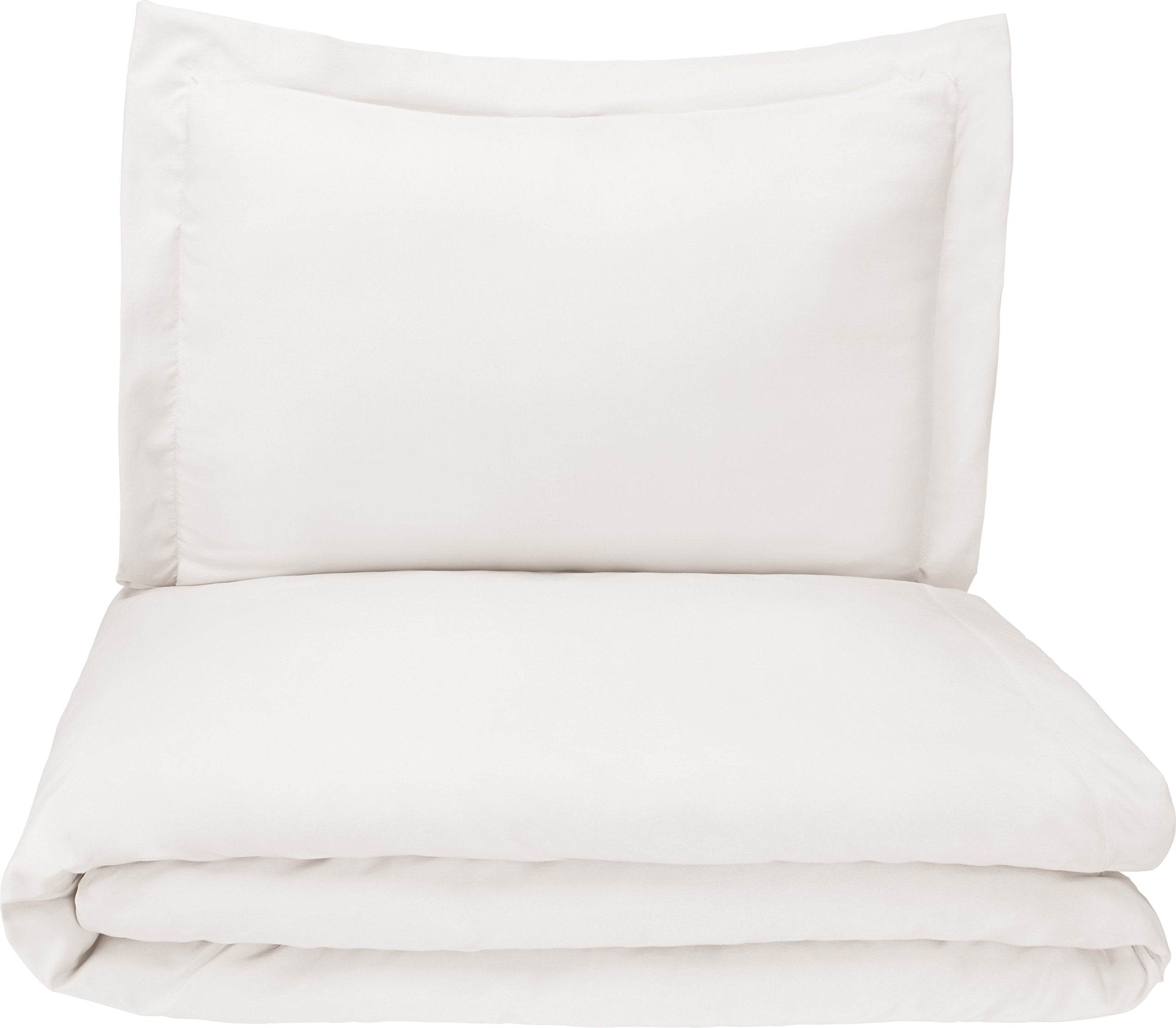 Microfiber Duvet Cover Set - Lightweight and Soft - Twin/Twin XL, Cream