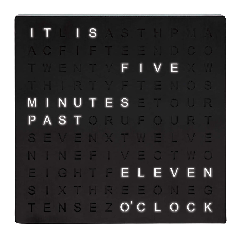 LED Text Square Face Wall Clock