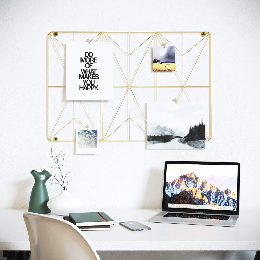 Cevillo Gold Stylish Wire Metal Wall Grid Panel