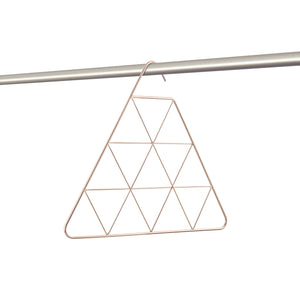 Triangular Copper Scarf Hanger