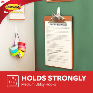 Command 3 lb Capacity Hooks, 9 hooks, 12 strips, Indoor Use
