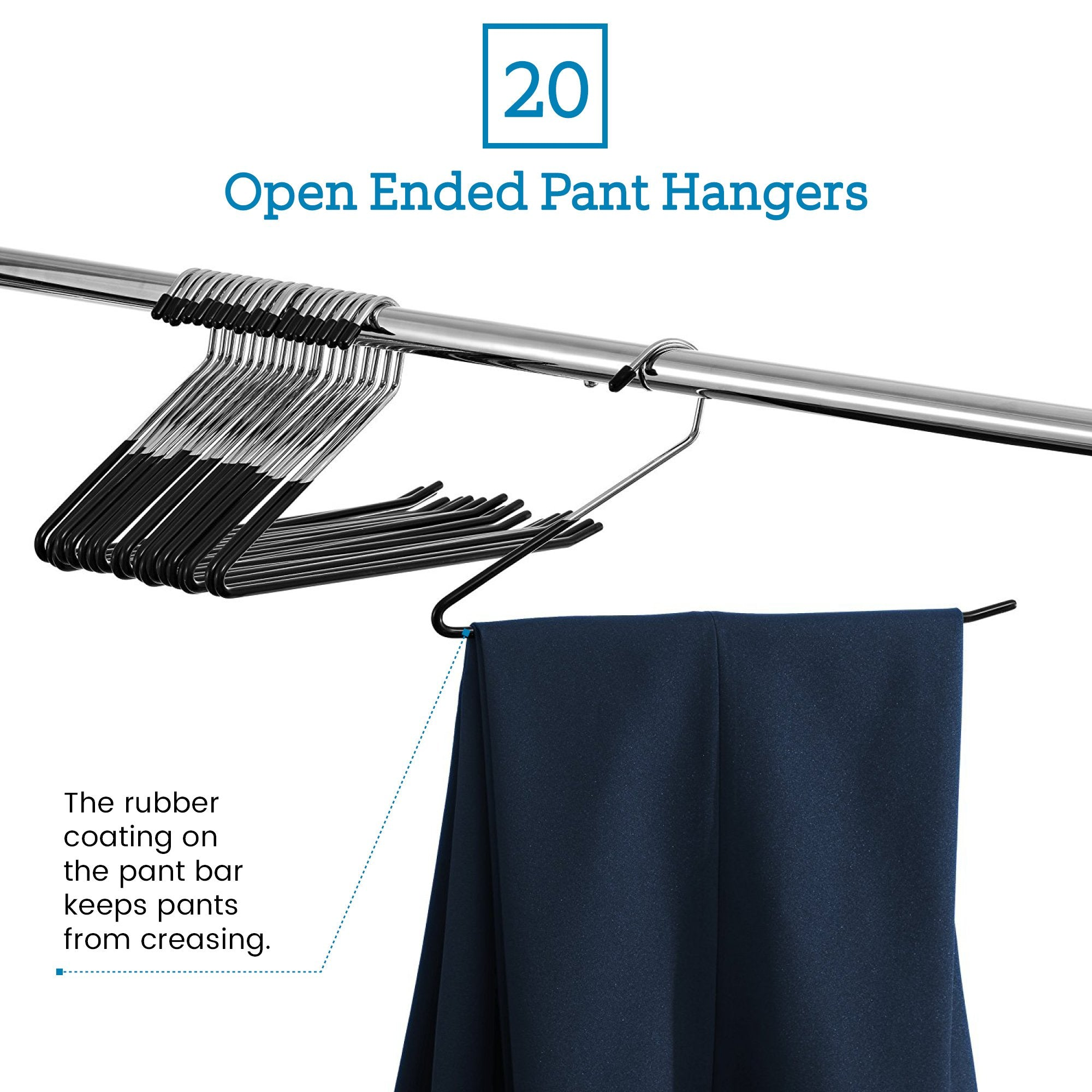 Slack/Trousers Pants Hangers - 20 Pack