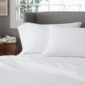 Pinzon 300-Thread-Count Twin XL Percale Sheet Set - White