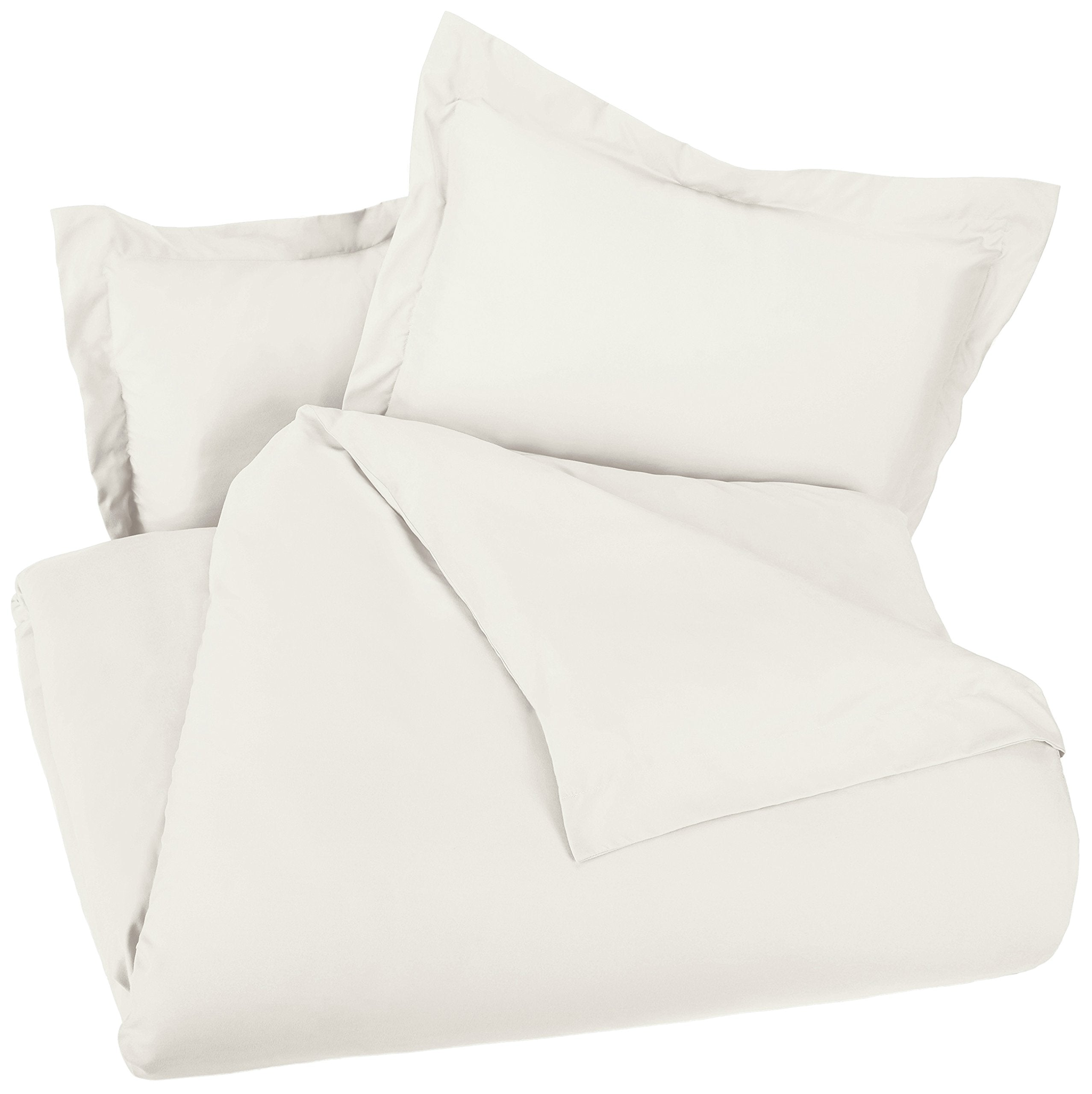 Microfiber Duvet Cover Set - Lightweight and Soft - Twin/Twin XL, Beige