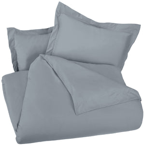 Microfiber Duvet Cover Set - Lightweight and Soft - Twin/Twin XL, Dark Grey