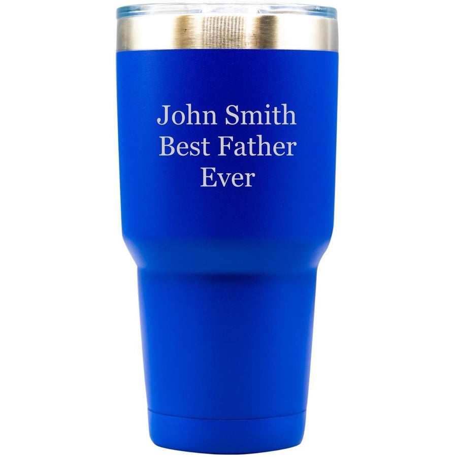 20oz Tumbler - Blue with Engraved Text