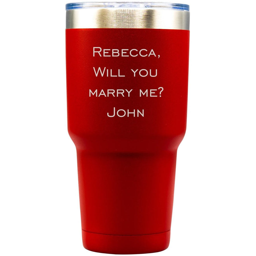 20oz Tumbler - Red with Engraved Text