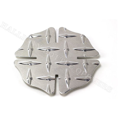MALTESE CROSS DIAMOND PLATE COASTERS (SET OF 4)