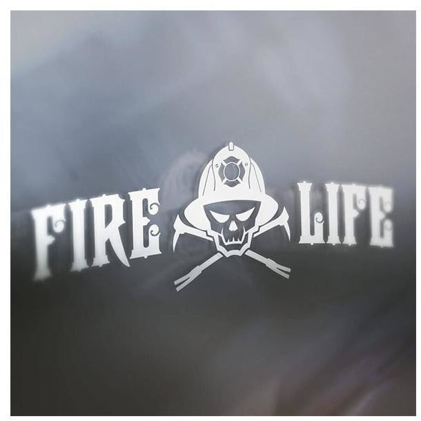 VINYL FIRE LIFE CAR DECAL