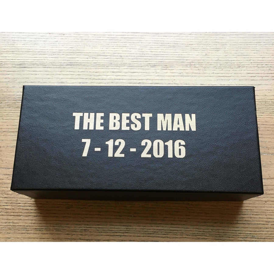 Gift Box with Engraved Text