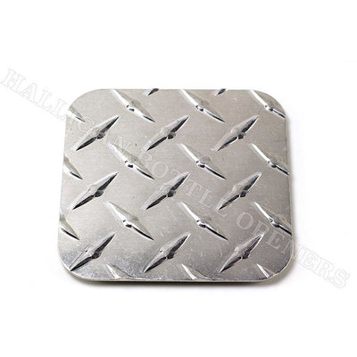 SQUARE DIAMOND PLATE COASTERS (Set of 4)