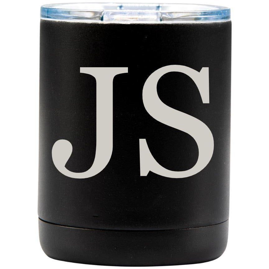 Small Tumbler - Black with Engraved Text