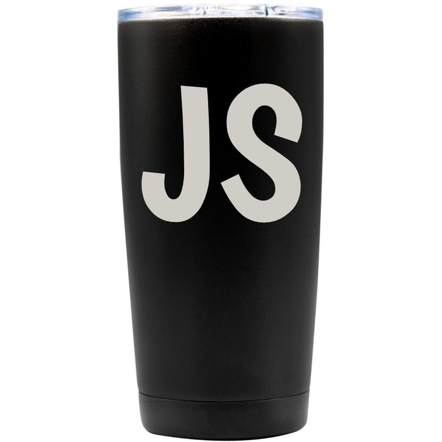 Tumbler - Black with Engraved Text