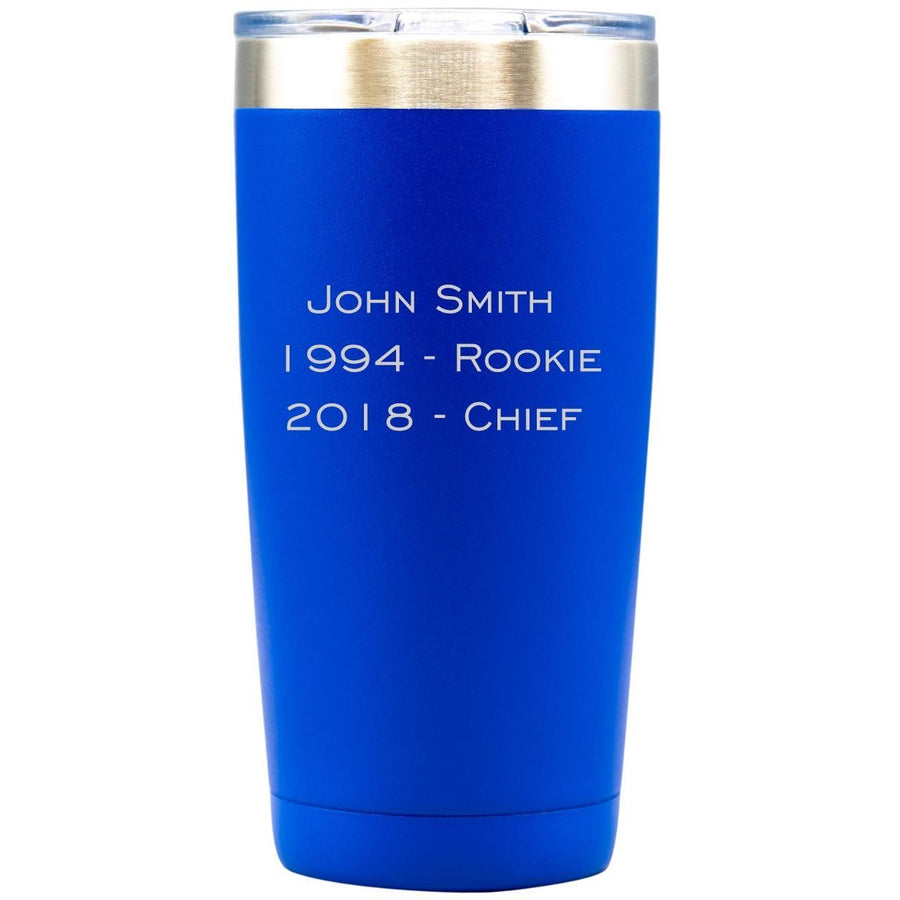 Tumbler - Blue with Engraved Text