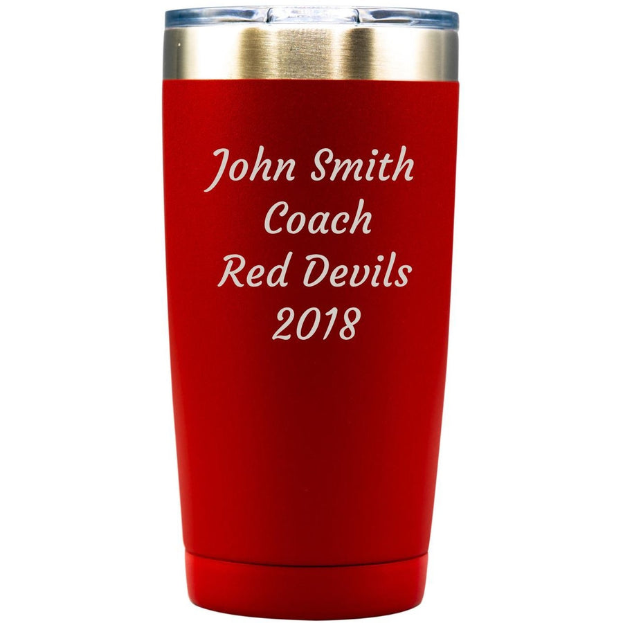 Tumbler - Red with Engraved Text
