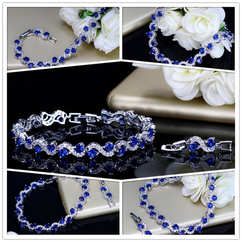 Image of Pera™ Royal Blue Cubic Zirconia Bracelet