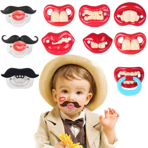 Super funny baby pacifiers