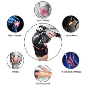 Magnetic Knee Vibration -  Massaging Vibrating Heating Joint Physiotherapy Pain Relief Rehabilitation Tool