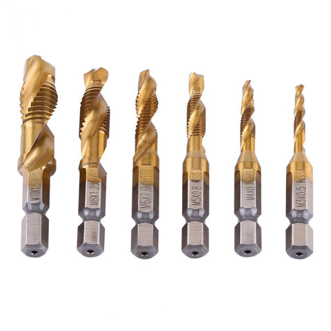 Image of M3~M10 Hex Shank Titanium-Plated HSS Drill Bits