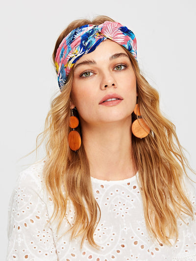 Plant Print Turban Headband - Open Your heart boutique