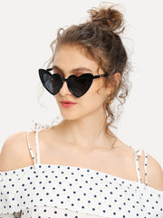 Heart Shaped Frame Sunglasses - Open Your heart boutique