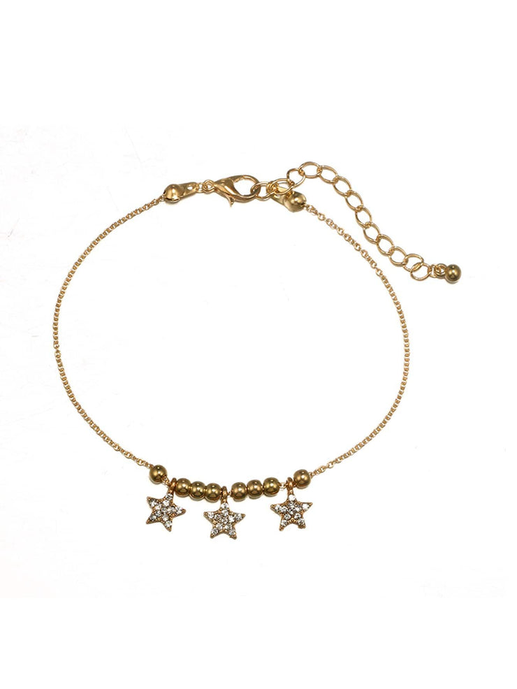 Elephant & Star Anklet Set 3pcs - Open Your heart boutique