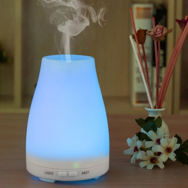 Ultrasonic Humidifier Aromatherapy Oil Diffuser Cool Mist With Color LED Lights essential oil diffuser  Waterless Auto Shut-off - Open Your heart boutique