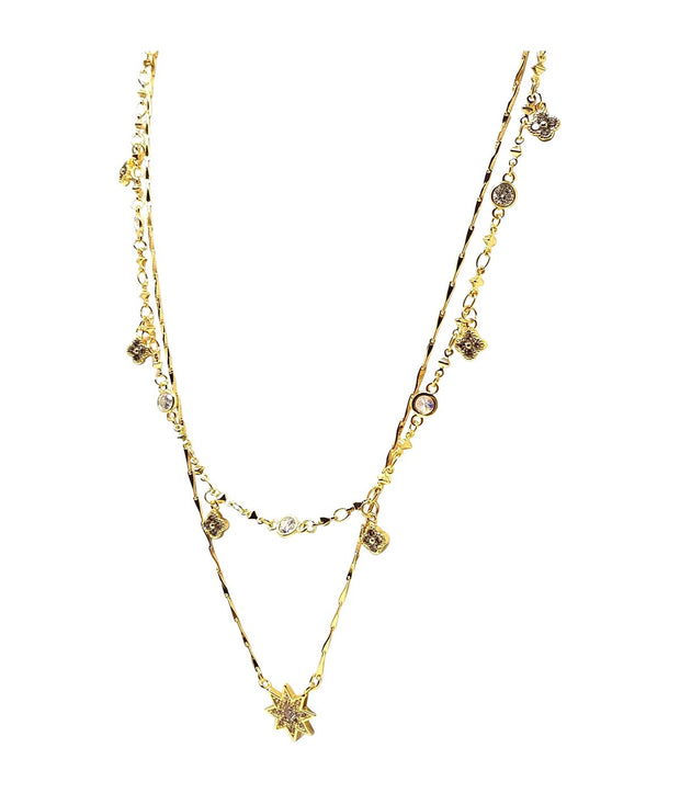 Gold Plated Layered Necklace J03 - 3 Colors - Open Your heart boutique