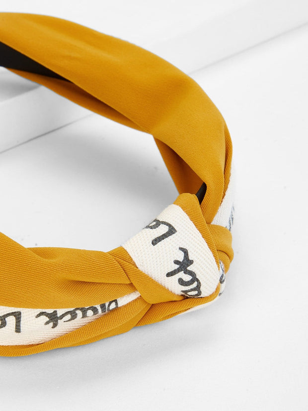 Marigold/Color Block Design Headband - Open Your heart boutique
