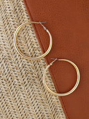 Medium Sized Gold Hoop Earrings - Open Your heart boutique