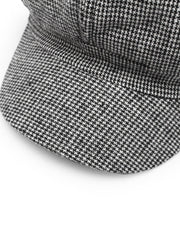 Houndstooth Pattern Baker Boy Hat - Open Your heart boutique