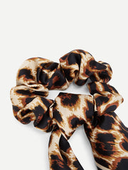 Scarf Knot Leopard Hair Tie - Open Your heart boutique