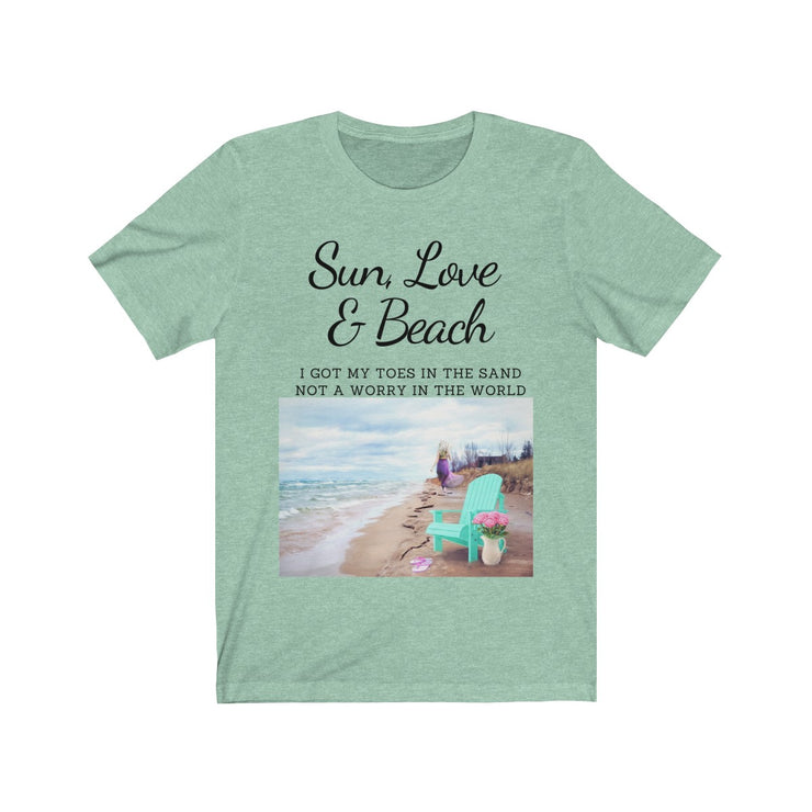 Nature Elements Mother Earth Sun, Love & Beach Graphic Tee - Open Your heart boutique