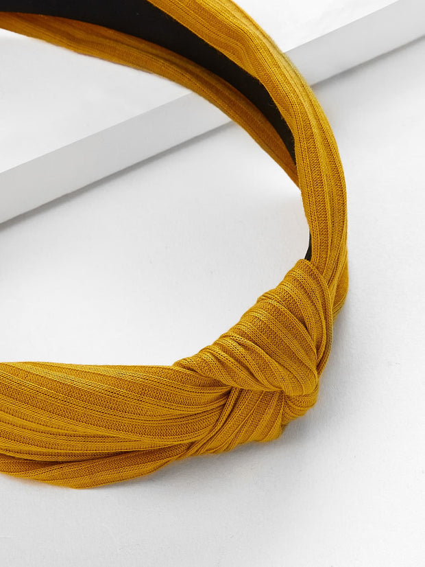 Marigold Knot Design Wide Headband - Open Your heart boutique