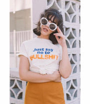 Just Say No To Bullshit Tee - Open Your heart boutique