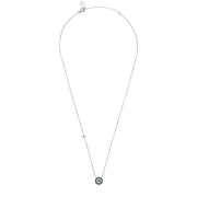 Evil Eye Necklace Silver - Open Your heart boutique