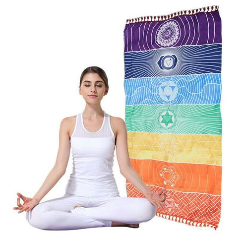 Chakra Reiki Beach Mat Mandala Blanket Wall Hanging - Open Your heart boutique