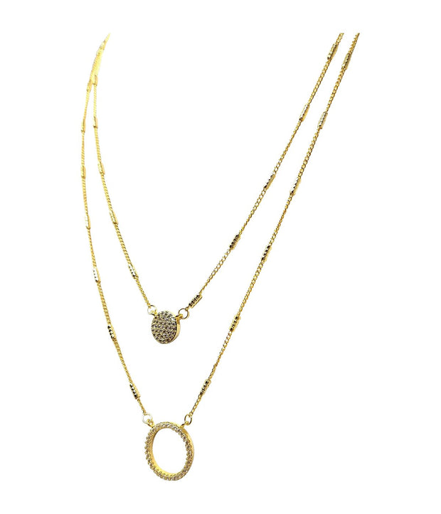 Laconic Style Layered Necklace J04 - 3 Colors - Open Your heart boutique