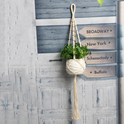 Vintage Macrame Plant Hanger - Open Your heart boutique