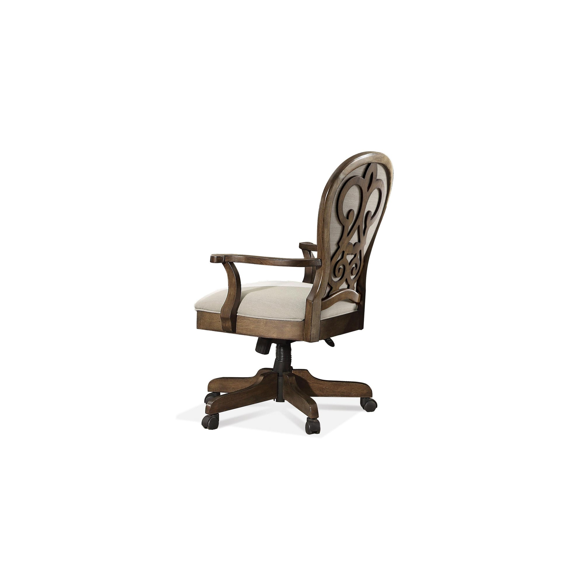 Belmeade Scrol Back Upholstered Desk Chair