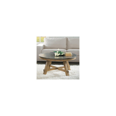 Weatherford Round Cocktail Table-Bluestone Top
