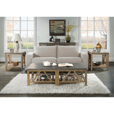 Weatherford Rectangular End Table-Bluestone Top