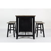 Urban Loft 3pc Small Kitchen Island Dining Set